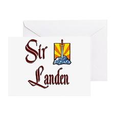 Sir Landen Greeting Card