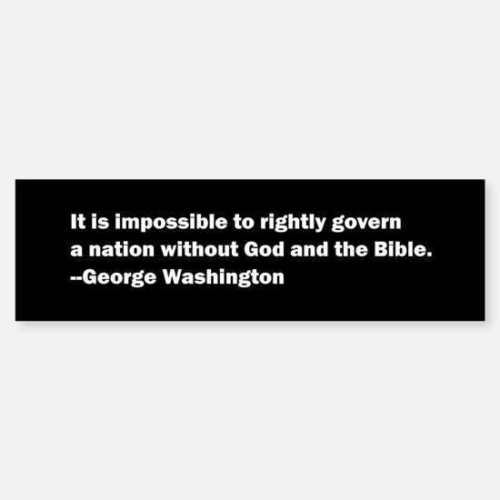George Washington Quote Sticker (Bumper)