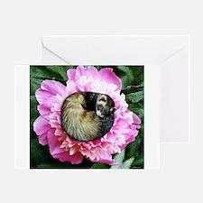 Ferret in Flower Greeting Card