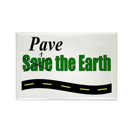 Pave w/ road Rectangle Magnet