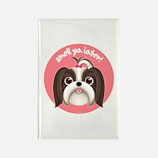 SMELL YA LATER Girl Dog Rectangle Magnet