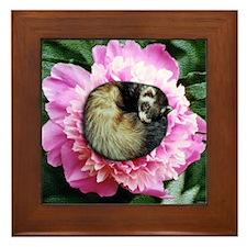 Ferret in Flower Framed Tile