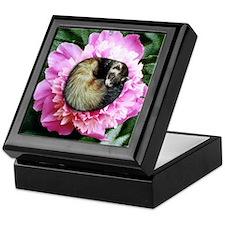Ferret in Flower Keepsake Box