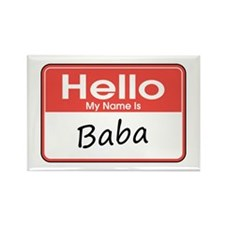 Hello, My name is Baba Rectangle Magnet