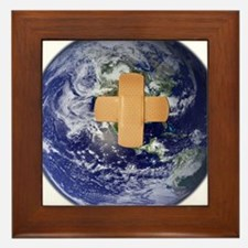 Funny Healing Framed Tile