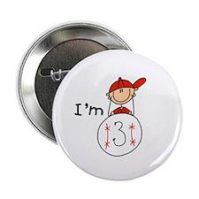 "Baseball I'm 3 2.25"" Button"