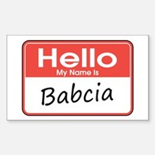Hello, My name is Babcia Rectangle Decal