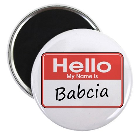 """Hello, My name is Babcia 2.25"""" Magnet (10 pack)"""