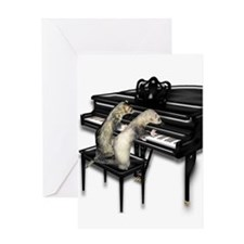 Ferrets Playing Piano Greeting Card