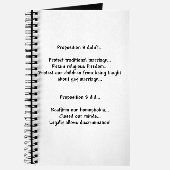 No on prop 8 - Journal