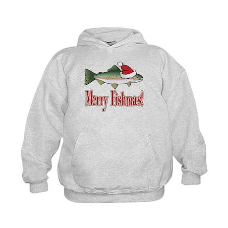 Merry Fishmas Kids Hoodie
