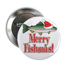 """Merry Fishmas 2.25"""" Button"""