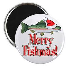 Merry Fishmas Magnet