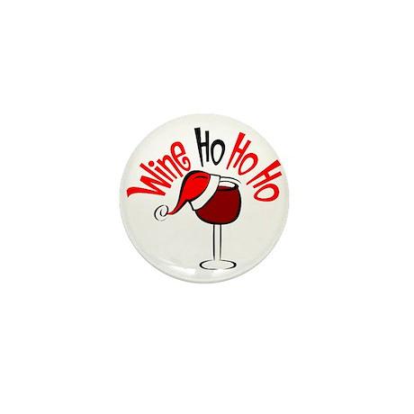 Wine Ho Ho Ho Mini Button (100 pack)
