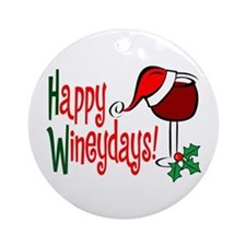 Happy Wineydays Ornament (Round)