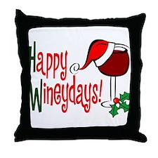 Happy Wineydays Throw Pillow
