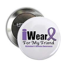 """I Wear Purple (Friend) 2.25"""" Button (10 pack)"""