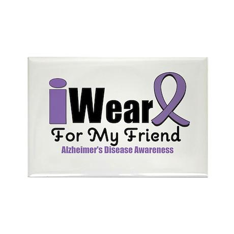 I Wear Purple (Friend) Rectangle Magnet (10 pack)