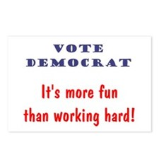 Vote Democrat It's more fun... Postcards (Package