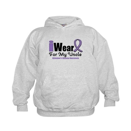 I Wear Purple Uncle Kids Hoodie