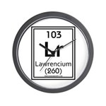 Lawrencium Wall Clock