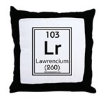 Lawrencium Throw Pillow