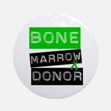 Bone Marrow Donor (Label) Ornament (Round)