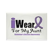 I Wear Purple Aunt Rectangle Magnet