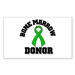 Bone Marrow Donor Ribbon Rectangle Sticker 10 pk)