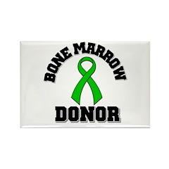 Bone Marrow Donor Ribbon Rectangle Magnet