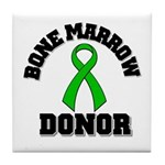 Bone Marrow Donor Ribbon Tile Coaster
