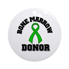Bone Marrow Donor Ribbon Ornament (Round)