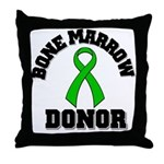 Bone Marrow Donor Ribbon Throw Pillow