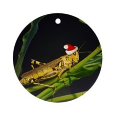 Grasshopper Santa Ornament (Round)