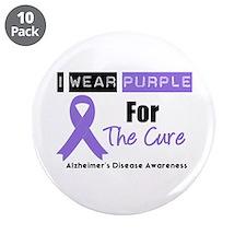 """Alzheimer's Cure 3.5"""" Button (10 pack)"""