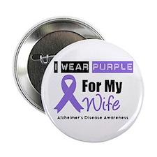 """I Wear Purple (Wife) 2.25"""" Button"""
