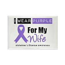 I Wear Purple (Wife) Rectangle Magnet