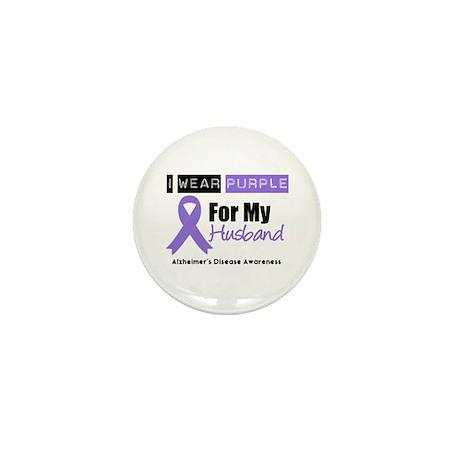 I Wear Purple (Husband) Mini Button