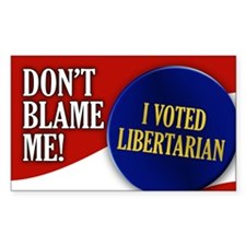 I voted Libertarian Rectangle Decal