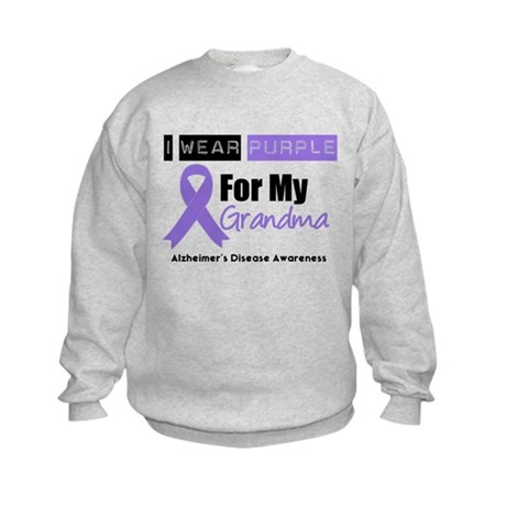 I Wear Purple (Grandma) Kids Sweatshirt