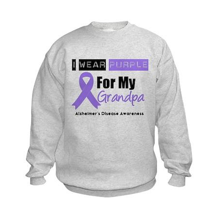 I Wear Purple (Grandpa) Kids Sweatshirt