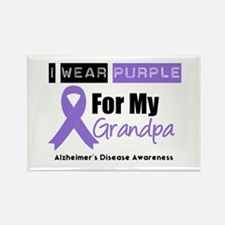 I Wear Purple (Grandpa) Rectangle Magnet