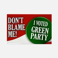 I voted Green Party Rectangle Magnet