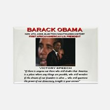 Cute African americans for obama Rectangle Magnet (100 pack)