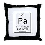 Protactinium Throw Pillow