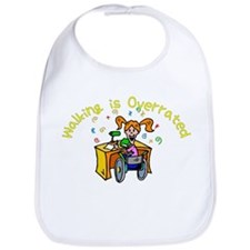 Reading Girl Bib