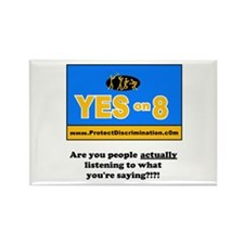 No on prop 8 - Rectangle Magnet