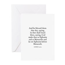 GENESIS  48:20 Greeting Cards (Pk of 10)