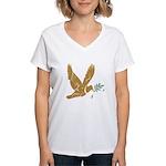 Golden Dove Women's V-Neck T-Shirt