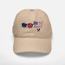 No Red No Blue States Baseball Baseball Cap